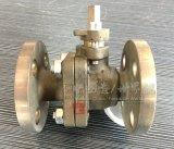 Шариковый клапан 2PC бронзового высокого конца фланца платформы ручной