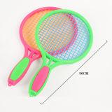Brinquedo plástico da raquete de tênis das crianças coloridas para o jogo do tênis