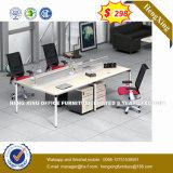 Squre 금속 관 다리 MDF 나무로 되는 테이블 사무실 책상 (HX-8NR0372)