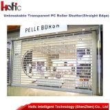 Porte commerciale rapide de rouleau de porte en cristal d'obturateur pour le marché d'achats