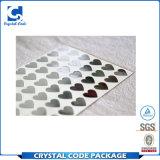 Etiqueta impermeável da etiqueta da folha de prata do selo quente UV da impressão