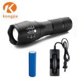 강력한 Xml-T6 18650 재충전 전지 800 루멘 Alluminum LED 플래쉬 등