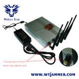 GSM van de Afstandsbediening van de macht de Regelbare 3G 4G Mobiele Stoorzender van het Signaal van de Telefoon (60 Meters)