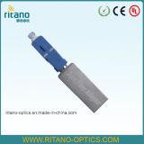 Adaptador del cable de la fibra E2000 de Sc/LC/FC/St/Mu/MTRJ/MPO a una cara/duplex/adaptador óptico estándar o híbrido de Om3/Om4/APC unimodal/con varios modos de funcionamiento del patio de fibra