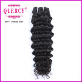 Cabelo cambojano não processado natural humano do cabelo #1b do Virgin profundo dos produtos de cabelo da onda