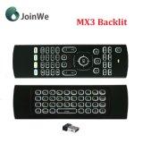 Mini drahtlose Tastatur-Mx3 Backlit Luft-Fliegen-Maus für intelligenten Fernsehapparat-Kasten