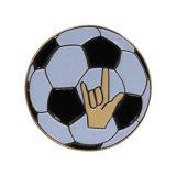 Suprimento da marca profissional estanho metálico Oval Botão Anime Badge