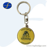 Sostenedor promocional modificado para requisitos particulares del clave del Keyring del recuerdo del regalo de Keychain de la moneda del metal