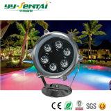 luz subacuática de 6W LED para la piscina/la fuente