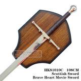 Braveheartの剣の中世剣の装飾の剣108cm HK81010c