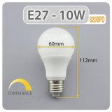 Precio de fábrica de 10 vatios bombilla de luz LED para iluminación del hogar
