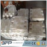 Mosaico de mármol blanco Polished natural para el diseño interior del suelo