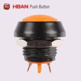 Momtentary abovedado, cabeza, Zn-Al aleación, Color Blanco, resistente al agua 12mm Mini contacto