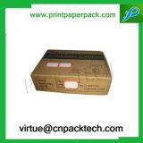 Коробка подарка картона голубого шлемофона Coutom упаковывая бумажная