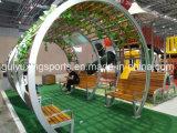 옥외 현대 목제 공원 큰 천막