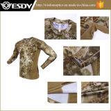 Esdy 3 Cores Secagem Rápida Camo camisola caça militar do Exército