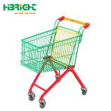 Einkaufen-Laufkatze der Supermarkt-Speicher-Farben-Kinder mit Markierungsfahne