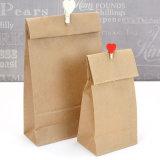 Sacchetti caldi del regalo della maniglia della carta kraft del Brown di vendita