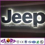 Frontlit de venda quente & concessionário automóvel acrílico personalizado do anúncio ao ar livre do diodo emissor de luz logotipo retroiluminado que anunciam