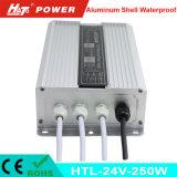 24V 10A는 세륨 RoHS Htl 시리즈를 가진 LED 전력 공급을 방수 처리한다