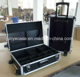 Aluminiumgepäck-Kasten mit teleskopischem Griff