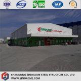 La construction préfabriquée de haute résistance diplôméee par OIN de structure métallique entreposent