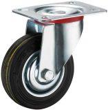 3-8 인치 산업 까만 고무 조정 피마자 바퀴