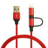 2 em 1 de alta econômica Jeans cabo de dados USB para o Android para iPhone