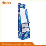 Soporte de cartón piso muestra ventanas de estante de la pantalla de papel