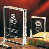 Grabado con láser personalizada Trofeo de la bola de cristal de vidrio para el recuerdo