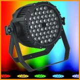 Gbr resistente al agua 54pcs 3W RGBW par la luz puede IP65 Iluminación de escenarios