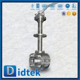 Vávula de bola de flotación de la baja temperatura de la palanca de Didtek