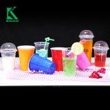 12oz ясно Smoothie одноразовой пластиковой чашки с Куполообразная крышка и трубочки
