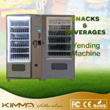 Lentejas y máquina expendedora pila de discos del bocado para la comida fría
