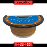 Таблица покера изготовления таблицы Blackjack оптового казина изготовленный на заказ для игрока 7 с формой половинной луны (YM-BJ01)