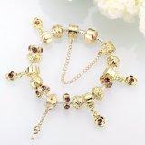 Bracelet de femmes de talons en verre d'or du bijou DIY d'incinération de mode