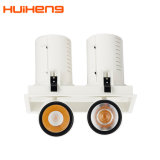 0-10V Dimmable 25W*2 Double Head LED Spot Downlight