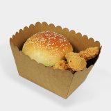 Kraft 종이 음식 쟁반은 튀겨진 닭 종이 배 쟁반을 나른다