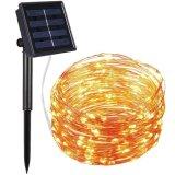 Super largo de 10 m/17m/22m LED Solar Hada de las luces de la cadena de cable de cobre para la decoración exterior