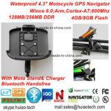 """Nuovo impermeabilizzare """" il percorso marino di GPS del camion esterno di azione del motociclo della bici dell'automobile 4.3 con il programma del navigatore di GPS, la cuffia avricolare di Bluetooth, sistema di percorso tenuto in mano di GPS"""