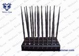 調節可能な16アンテナ強力な3G 4G WiFi UHF VHF GPS L1/L2/L5 Lojackのリモート・コントロール電話妨害機(ブロッカー)