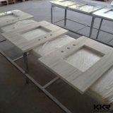 Kkrの流しが付いているカスタム人工的な石造りの台所カウンタートップ
