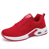 Flyknit calç o vermelho para sapatas Running da sapatilha do coxim de ar das sapatas das senhoras