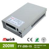 15V13A 200W Wechselstrom Stromversorgung zur Gleichstrom-IP44 SMPS LED