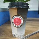 Производитель одноразовых подачи горячего кофе чашку бумаги с крышкой
