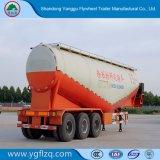 Venta caliente 3/Eje tres depósito de polvo de cemento a granel seco/semi remolque cisterna