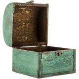 旧式な木から成っている海事の木製の収納箱
