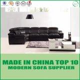 Sofa sectionnel de meubles de noir de coin moderne italien de cuir