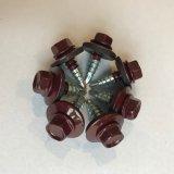 Petite Self-Drilling vis à tête hexagonale avec rondelle Empd plaqué zinc