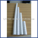 10 cartucho de filtro grande de agua de la herida de la cadena del algodón de 20 pulgadas con 1 5 10 micrones